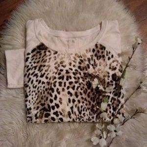 #61🔴Apt 9 Animal Print Thin Sweater